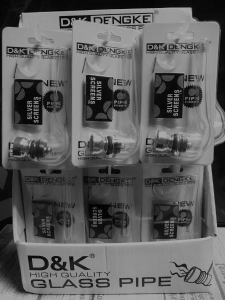 D&k Mini 5 Glass pipe Screens